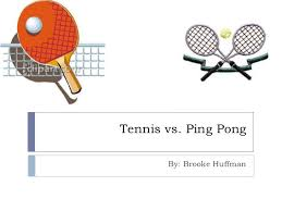 ping pong vs table tennis tennis vs ping pong