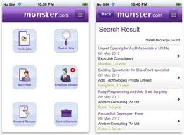 monstor jobs monster launches its job search app on the ios platform