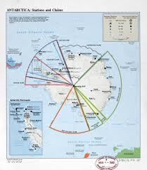 map of antarctic stations large detailed antarctica stations and claims map 1981