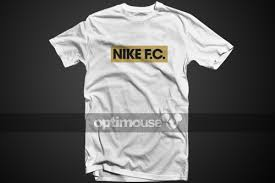 Baju Gambar Nike t shirt nike fc white gold optimouse football shirts fashion
