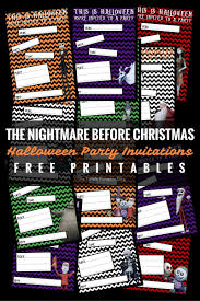 halloween party invitations the nightmare before christmas