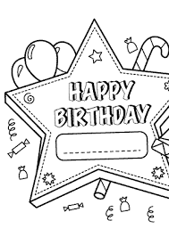 happy birthday printable star u2013 coloring pages for kids