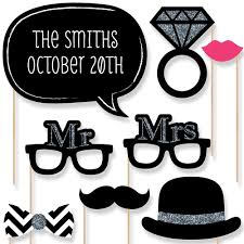wedding photo booth props mr mrs silver 20 photo booth props kit