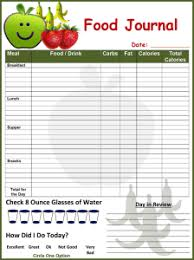 diet food journal template u2013 diet plan
