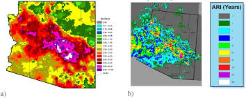 rainfall totals map average recurrence interval of rainfall in