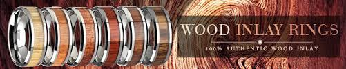 mens wedding bands wood inlay wooden wedding rings larson jewelers