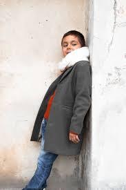winter coat for boys classic wool coat grey pea coat kids