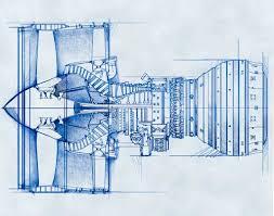 blueprint style illustrations