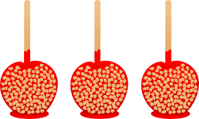 halloween candy apple sticks candy apple clipart collection