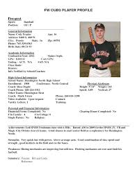 Baseball Resume Template Softball Player Resume Sample Opportunity Sadness Tk