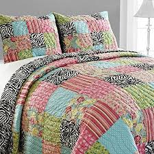 Girls Patchwork Bedding by Buy Teen Girls Reversible Zebra Patchwork Quilt Floral Paisley