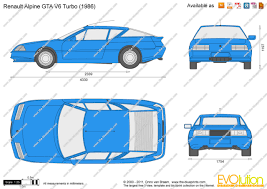 renault alpine gta the blueprints com vector drawing renault alpine gta v6 turbo