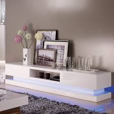 evoque led white high gloss tv unit with lower lighting fol300300