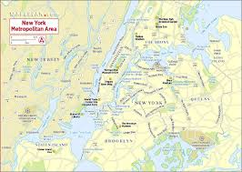 New York City Attractions Map by New York Metropolitan Boroughs Interesting Sites New York Map