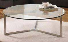 Circle Glass Coffee Table Milo Baughman Chrome Glass Cantilevered Coffee Table
