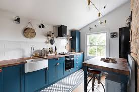 what color appliances with blue cabinets black kitchen appliances and bold additions for every