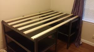 cheap diy platform bed with storage