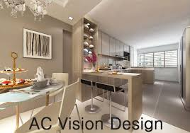 Bto Kitchen Design Hdb Bto 4 Room Open Kitchen Concept Yishun