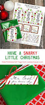 xmas gift snarky little christmas gift tags carla schauer designs