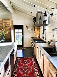 modern country kitchen with oak cabinets 30 gorgeous small farmhouse kitchen ideas for 2021