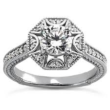 engagement rings vintage style halo engagement ring vintage style octagon setting