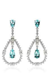 vartanian earrings white gold earrings with paraiba tourmalines and white diamonds by