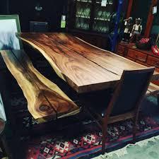 Natural Slab Dining Table Live Edge Slab Wood Decor Direct Wholesale Warehouse