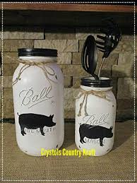 pig kitchen canisters 229 best jar home decor rustic country home decor