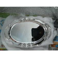 engraved silver platter fancy silver plate at rs 25000 silver plate id 9932937188