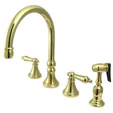 polished brass kitchen faucet brass polished kitchen faucets bellacor