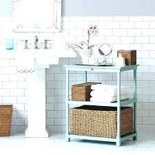 Bathroom Accent Table Small Bathroom Tables Reclaimed Open Vanity Small Bathroom Table
