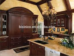 Antique Looking Kitchen Cabinets Antique Style Luxury Solid Wood Walnut Kitchen Cabinet Classic