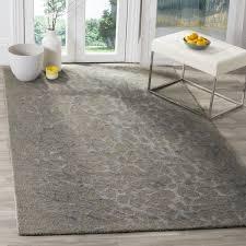 Safavieh Blossom Rug Safavieh Handmade Blossom Abstract Grey Grey Wool Rug 8 X 10