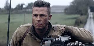 Mens Hairstyles Long On Top Shaved Sides by Brad Pitt U2013 Fury 2014 Movie Hairstyle U2013 Strayhair