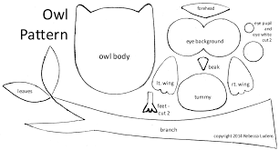owl printable template free download