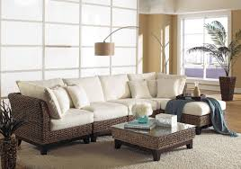 panama jack sanibel 6 piece sectional wicker living room set from