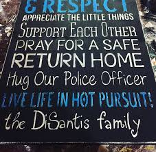 police home decor police officer sign unique gift police support thin blue line