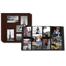 pioneer albums pioneer 5 up collage embossed travel photo album brown 240 4x6