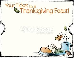 Thanksgiving Feast Clip Border Heading Your Ticket To A Thanksgiving Feast A Ticket Frame