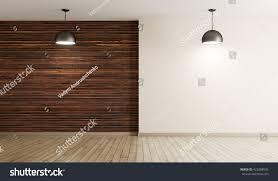 empty interior background room brown wood stock illustration