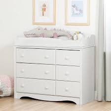 Changing Table Or Dresser South Shore Changing Table Dresser With 6 Drawers