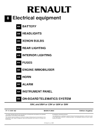 renault megane ii electrical equipment service repair manual www