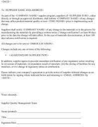 Certification Letter For Name Change Supplier Change Management For Drug Product Manufacturers