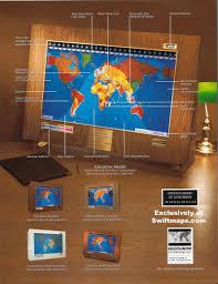 World Time Map Geochron Boardroom Model World Time Clock Map