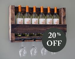 sale wall mounted wine rack holder wine glass holder