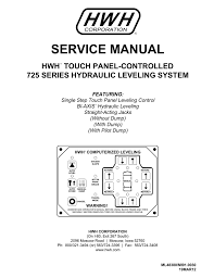 service manual hwh corporation
