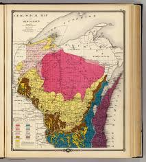 Map Of Wi Geological Map Of Wisconsin David Rumsey Historical Map Collection