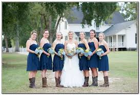 bridesmaid dresses with cowboy boots navy blue bridesmaid dresses with cowboy boots cherry