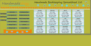 Tax Write Off Spreadsheet Handmade Bookkeeping Spreadsheet 2 0 Number One Selling