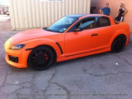 rx8 mazda rx8 build and wrapped in satin orange laminated by dbx